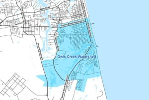 Rudee Inlet Owls Creek Watershed Map